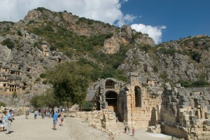 Carved tombs in Myra